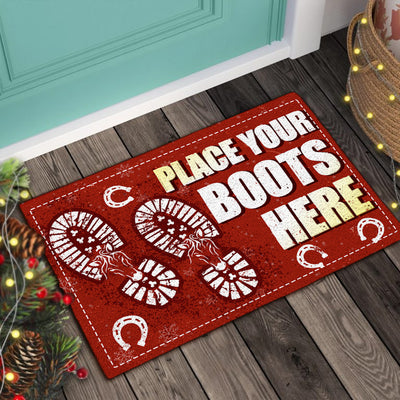 Place Your Boots Here - Horses Doormat
