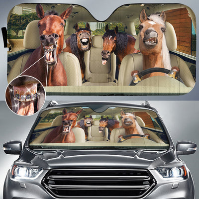 Braces Teeth Horses Auto Sun Shade