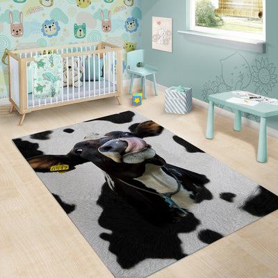 [FREE SHIPPING] Funny Dairy Cow Rug