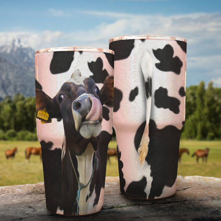 Funny Dairy Cow 30 Oz Tumbler