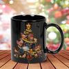 Chicken Christmas Tree 15 oz. Black Mug