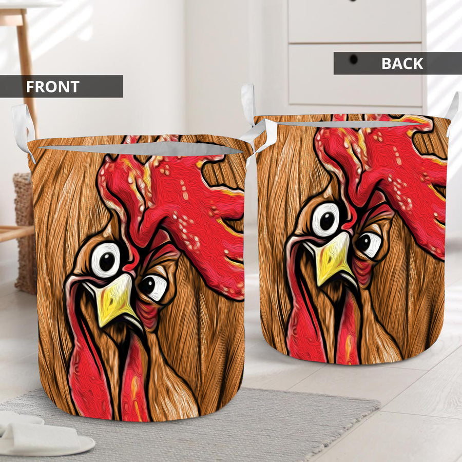 Cute Face Chicken Laundry Basket