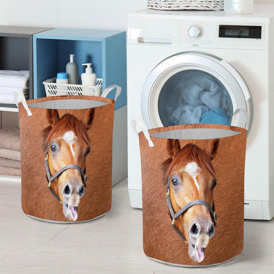 Cute Face Horse Laundry Basket