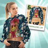 Flower Chicken Cropped Hoodie