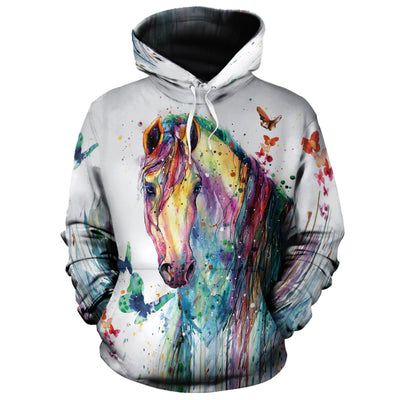 Colorful Horse All-over Hoodie