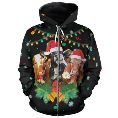 Merry Christmas Cows All-over Hoodie