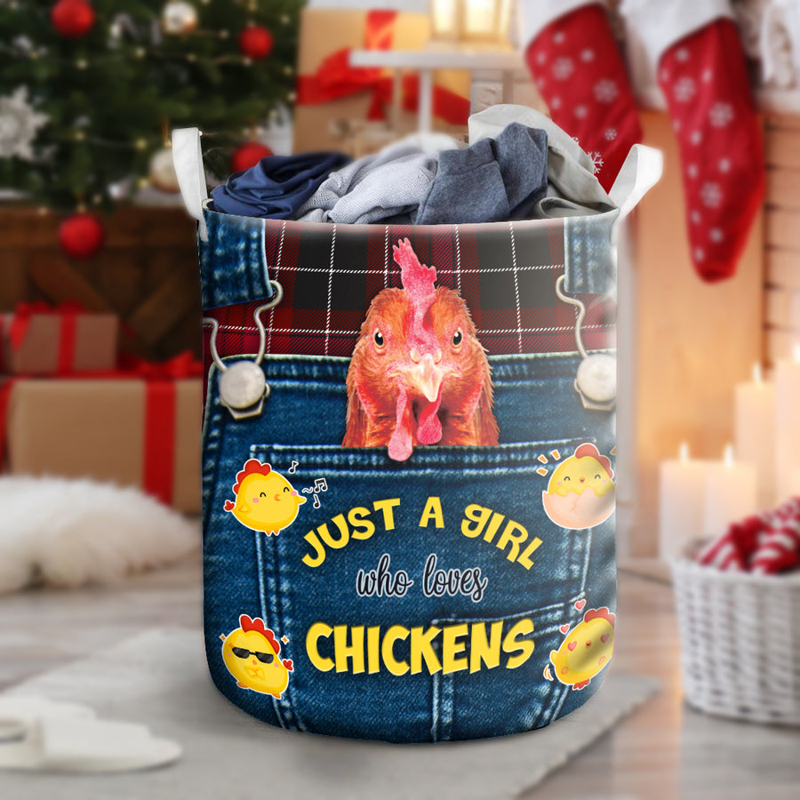 Just A Girl Who Loves Chickens Laundry Basket