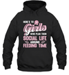 Farm Girls Plan Social Life Around Feeding Time T-shirt