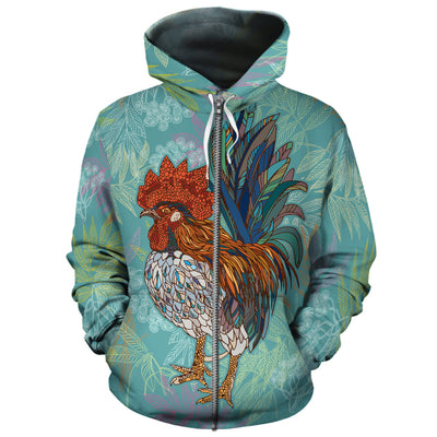 Colorful Chicken 2 All-over Hoodie