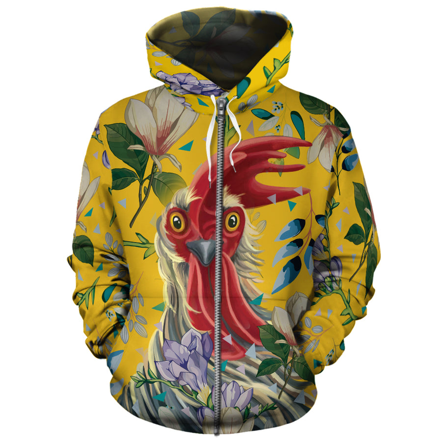 Flower Chicken 2 All-over Hoodie