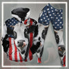 American Dairy Cow All-over Hoodie And Leggings Set