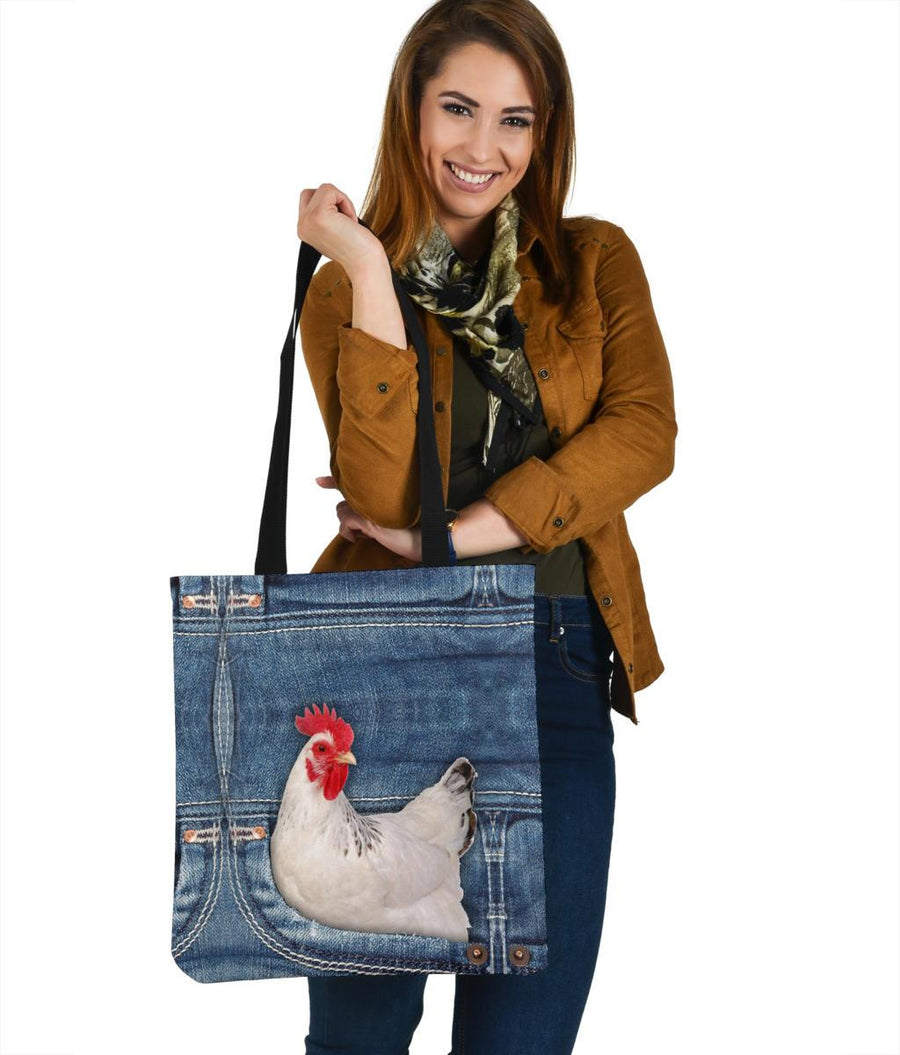 Chicken Jeans Pattern Tote Bag
