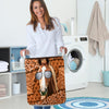 Funny Horse Leather Pattern Laundry Basket