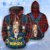 Just A Girl Who Loves Horses Jeans Pattern 2 All-over Hoodie And Leggings Set
