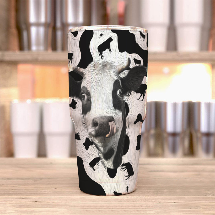 Cute Dairy Cow 30 Oz Tumbler