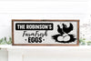 Personalized Farm Fresh Eggs Farmhouse Sign
