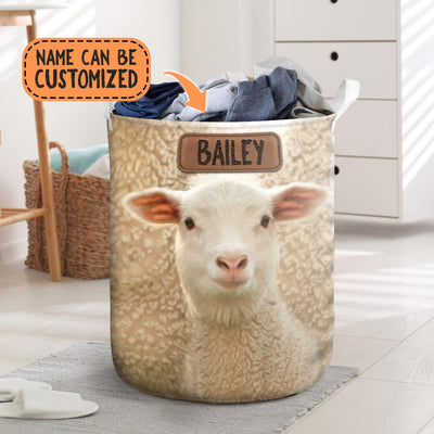Personalized Cute Sheep Face Laundry Basket