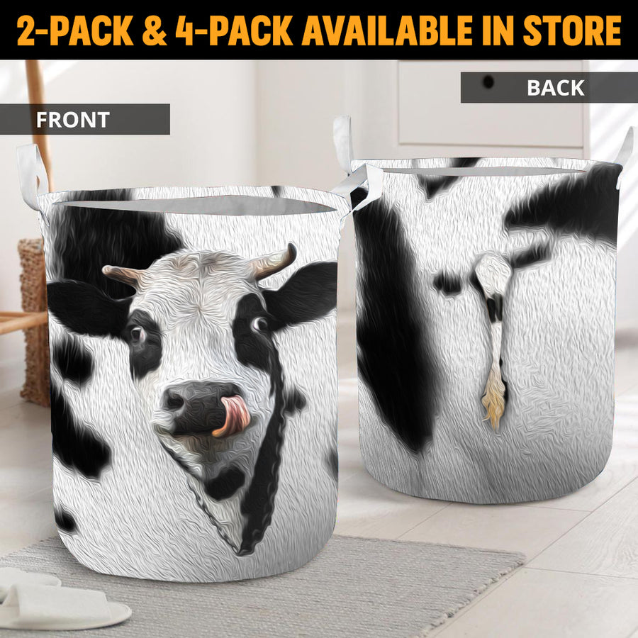 Cute Face Dairy Cow With Tail Gift Basket