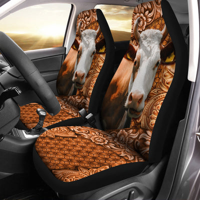 Cow Leather Pattern Car Seat Covers