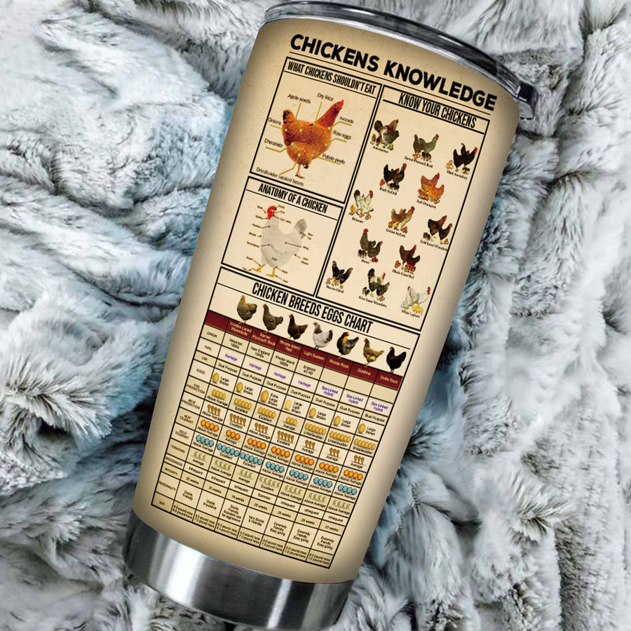 Farm Chickens Knowledge 20 oz Tumbler