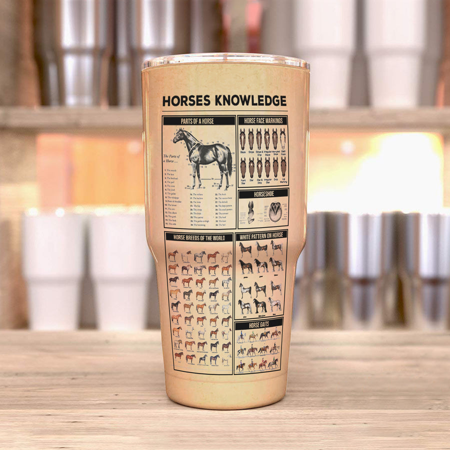 Farm Horses Knowledge 30 Oz Tumbler