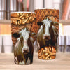 Dairy Cow Leather 30 Oz Tumbler