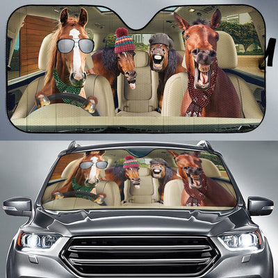 Funny Horses Winter 2 Right Hand Drive Version Auto Sun Shade