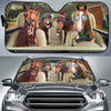 Funny Horses Winter 2 Auto Sun Shade