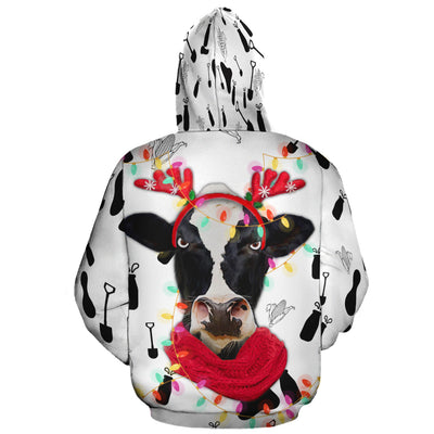 Grumpy Dairy Cow Christmas All-over Hoodie