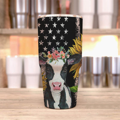 Sunflower Dairy Cows 30 Oz Tumbler