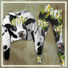 Daisy Dairy Cows Cropped Hoodie And Leggings Set