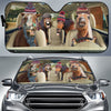 Funny Horses Winter Auto Sun Shade