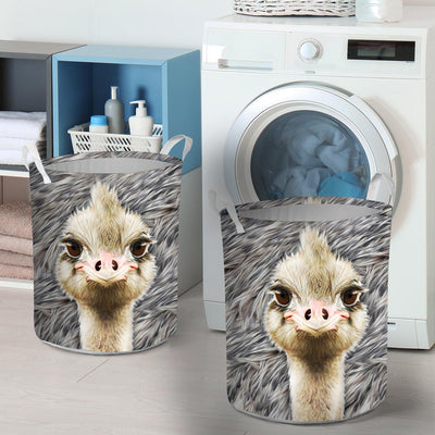 Cute Emus Face Laundry Basket