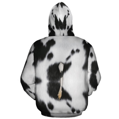 Cute Dairy Cow With Tail All-over Hoodie
