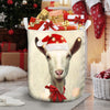 Xmas Cute Goat Face Laundry Basket