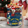 Xmas Just a Girl Who Loves Goats Laundry Basket