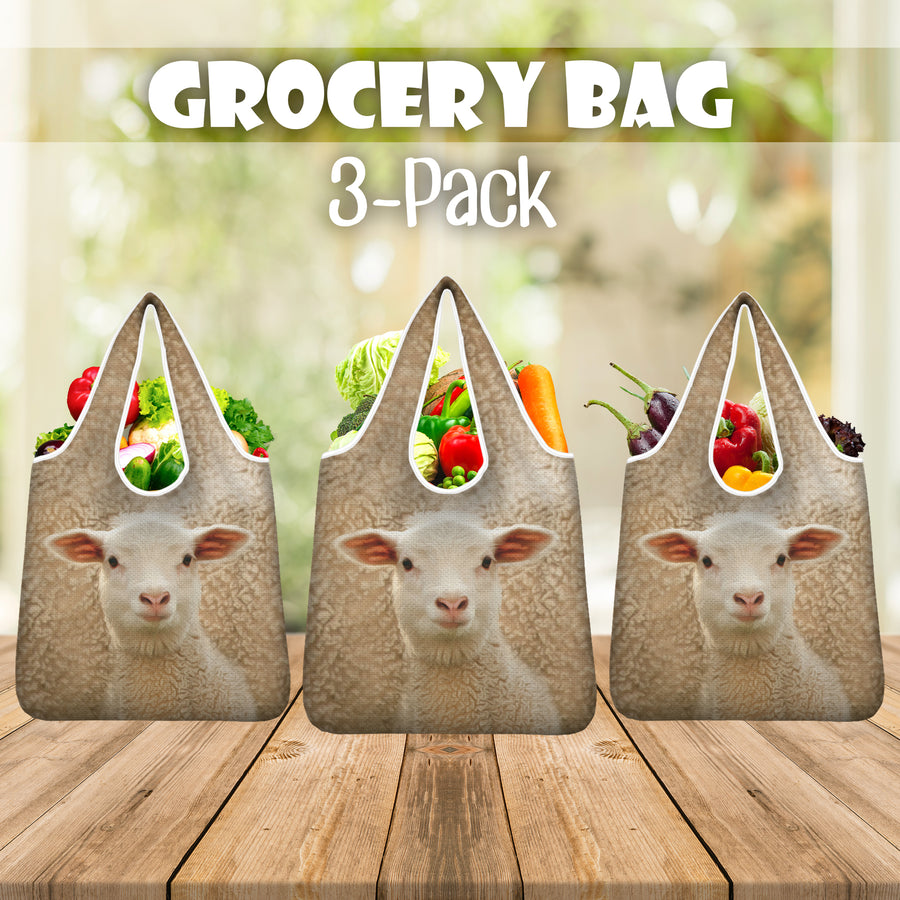 Cute Sheep Grocery Bag 3-Pack