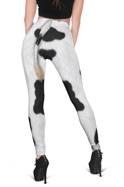 Funny Dairy Cow With Tail  Legging