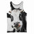 Cute Face Cow Tank Top