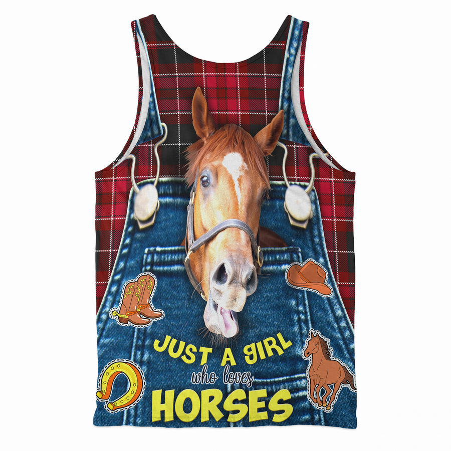 Just A Girl Who Loves Horses Tank Top