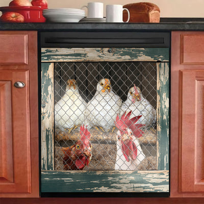 Funny Rooster Chicken Coop Dishwasher Cover