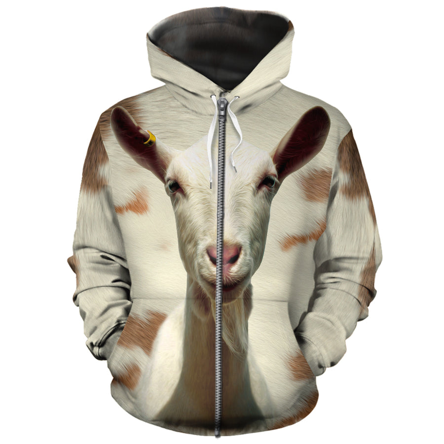 Cute Goat Face All-over Hoodie
