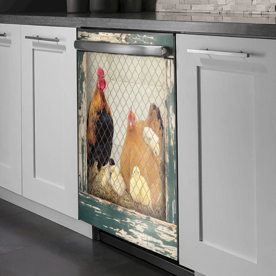 Art Family Chicken Coop Dishwasher Cover