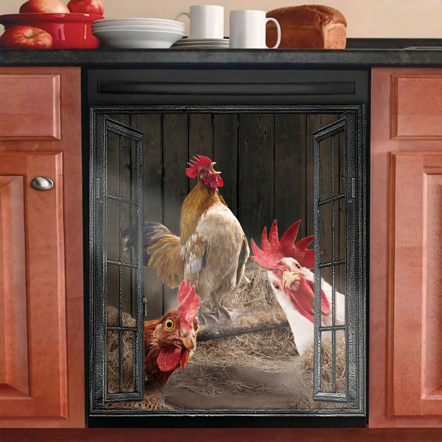 Funny Rooster Dishwasher Cover