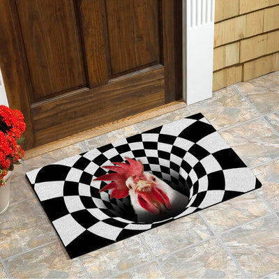 Farm Animals Illusion - Chicken Doormat