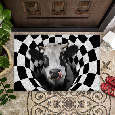 Farm Animals Illusion - Cow Doormat