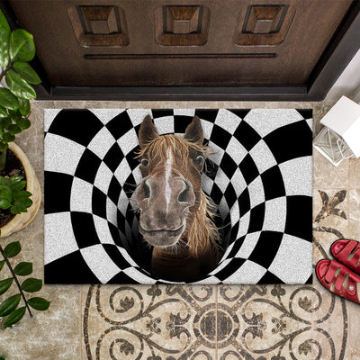 Farm Animals Illusion - Horse Doormat