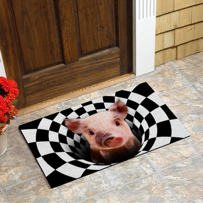 Farm Animals Illusion - Pig Doormat