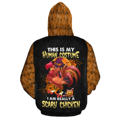 I Am Really A Scary Chicken All-over Hoodie