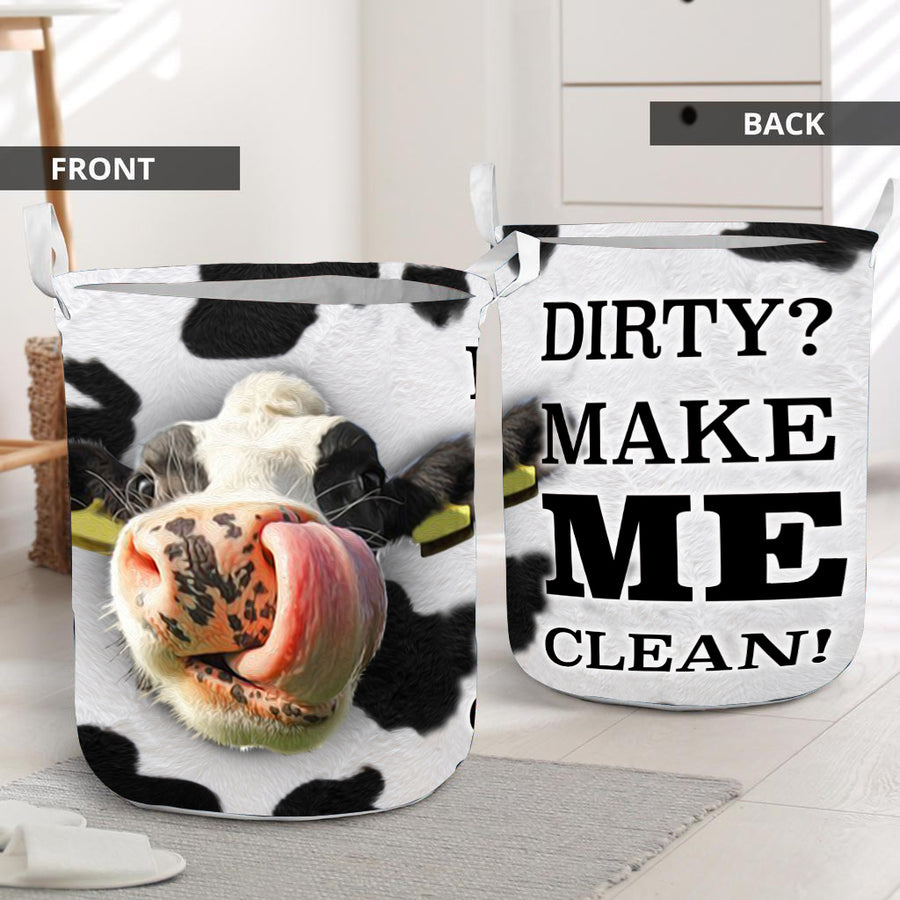 Make Me Clean Cow Laundry Basket